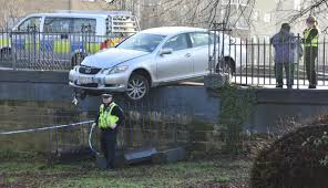lexus stockport jobs car smashes through railings over foss motorists urged to drive