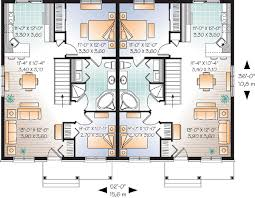family home floor plans multi family plan 76176 at familyhomeplans com