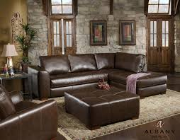 Brown Leather Sectional Sofa With Chaise 275 Brown Sectional Sofa By Albany Savvy Discount Furniture