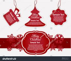 holiday gift tags labels stock vector 89580772 shutterstock