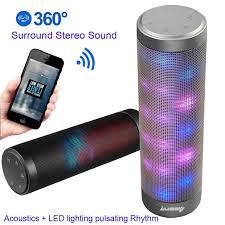 amazon com upgraded portable bluetooth light speakers luoov