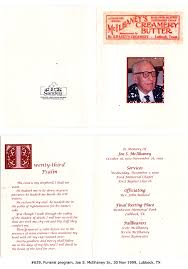 sle of funeral programs rainwater genealogy source documents