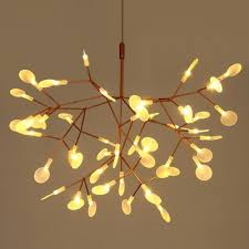 tree chandelier post modern creative tree branches leaf firefly led chandelier