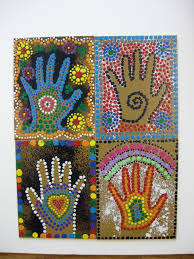 ms maggie mo u0027s australian aboriginal hand project spray hand with