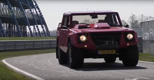 off road lamborghini showing up in a lambo lm002 at a supercar convention is trolling