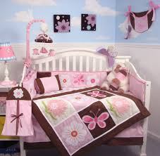 White Nursery Bedding Sets Baby Nursery Enchanting Flower And Butterfly Baby Bedroom