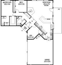 l shaped floor plans plan 77136ld family privacy ranch small house plans and