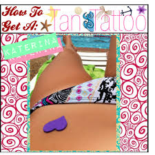 how to get a tan tattoo polyvore