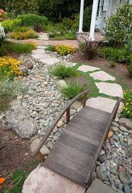 Small Rock Garden Pictures by Landscape Design Rock Garden With Stone Steps Small Wood Bridge