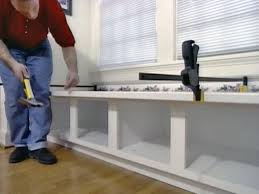 Tables With Bench Seating How To Build Window Seat From Wall Cabinets How Tos Diy