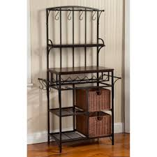 bakers rack with cabinet furniture bakers racks awesome kitchen cabinet pictures corner