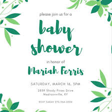 baby shower customize 334 baby shower invitation templates online canva