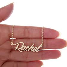 personalized nameplate necklace 2018 custom women 14k gold plated personalized name necklace