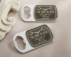 wedding favors bottle opener personalized the hunt is bottle opener with epoxy dome by