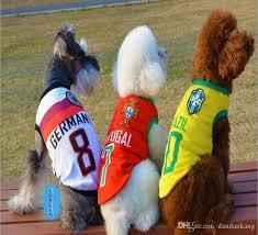 Soccer Halloween Costumes 2017 Pet Dog Cat Football Jersey Luxury Pet Shirt Clothes Cute