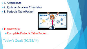 periodic table packet 1 answers chemistry daily lesson plans quarter 2 ppt video online download