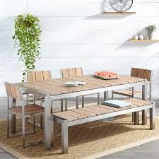 Outdoor Dining Chair Macon 6 Piece Rectangular Teak Outdoor Dining Table Set