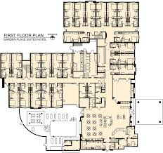 Floor Plan Hotel Garden Place Suites Hotel Raymond E Barnes Design Architecture