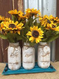 jar floral centerpieces sunflower jar arrangement flower arrangement jar