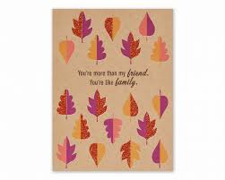 leaves thanksgiving card for friend shop american greetings