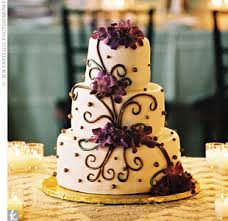 only with black instead of brown wedding cake brown purple