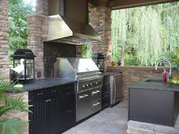 Outdoor Kitchen Backsplash by Hickory Wood Driftwood Glass Panel Door Outdoor Kitchen Cabinets
