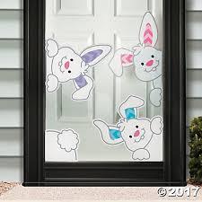 bunnies window clings