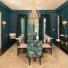 blue dining room ideas peacock blue dining chairs design ideas