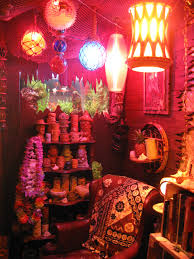 Kitsch Home Decor by A Swank Tiki Lounge Probably Set Up In Someone U0027s 50s Suburban