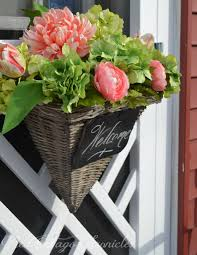 spring wreath with a twist