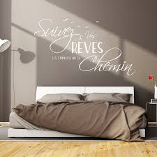 stickers muraux citations chambre sticker citation design suivez vos rêves stickers citations