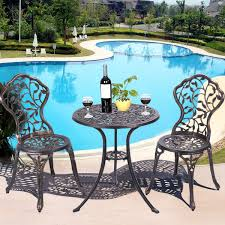 Aluminum Patio Furniture Set - 3 pcs cast aluminum bistro set outdoor furniture sets outdoor