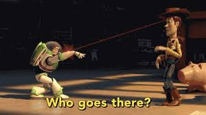 Buzz Lightyear And Woody Meme - buzz lightyear doesn t know if woody is friend or foe on toy story
