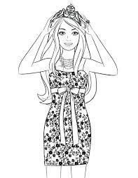 articles with barbie coloring pages online games tag barbie
