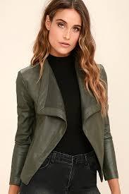 bb dakota bb dakota peppin olive green jacket vegan leather jacket