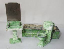 rare vintage dinky dolly varden dolls house bathroom furniture