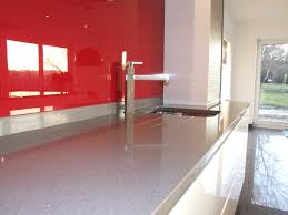 kitchen glossy red cabinet glass floating shelves italian white