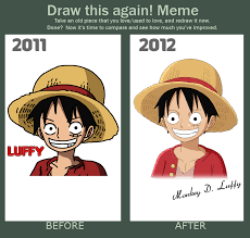 One Piece Memes - draw this again meme by sergiart on deviantart
