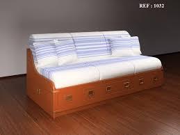 canapé avec lit tiroir lits et canapés en bois canapés lits de marine ameublement marin