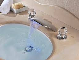 Bathtub Faucet Sets Three Sets Of Waterfall Bathroom Sink Faucet With Chrome Finish At