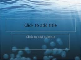 Water Powerpoint Theme Pontybistrogramercy Com Ppt Themes Free