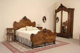 Bedroom Furniture Marble Top Nightstands Sold French Pair 1900 Antique Carved Walnut Marble Top