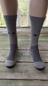 under armour ua allseason wool coldgear boot sock mens size large