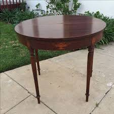 antique half moon table antique half moon side table with detailing chairish