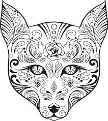 coloring pages sugar skulls lovely free advanced coloring pages