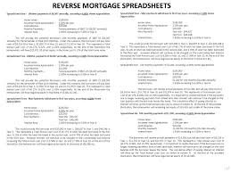 Probate Spreadsheet Table Of Contents Page Aag Information 2 Fred Thompson Commercial