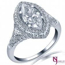 marquise cut engagement rings 2 13 tcw f si1 marquise cut trillion side halo engagement