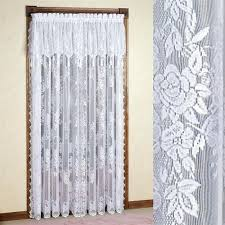 lace priscilla curtains with attached valance attached valance