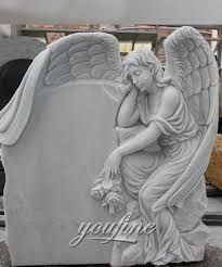 cheap headstones kneeling angel statues marble garden grave weeping praying baby