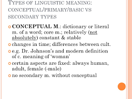 Types Meaning Nature And Types Of Linguistic Meaning Ppt Video Online Download